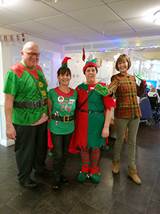 Staff dressed up for elf day