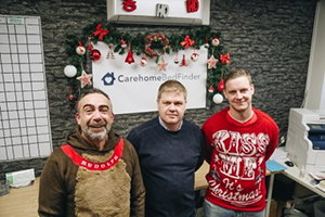 Care Home Bed Finder staff spreading Christmas cheer