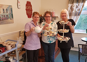 Care home's first coffee morning