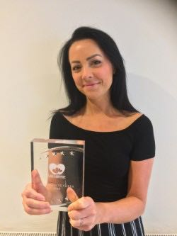 Amy Collins wins Outstanding Carer award