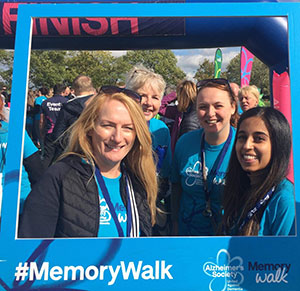 Care Staff on Memory Walk