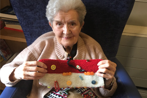 TWIDDLEMUFFS and dolls have been donated to a North Yorkshire care home to help residents with dementia.