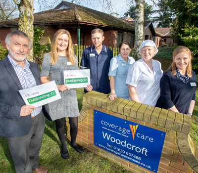 A north Shropshire care home has become one of only a few in the county to be awarded a rare 'outstanding' rating by independent watchdogs.