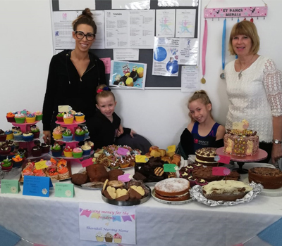 The bake sale at Thornhill Care Home