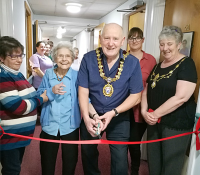 The opening of the EMBROIDERY exhibition at Mandale House Care Home