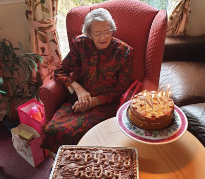 Florence celebrates 101st birthday with care home party