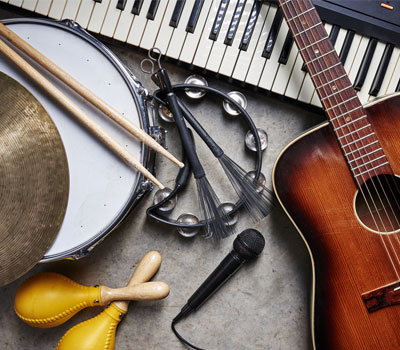 music festival instruments