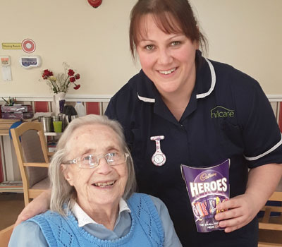 Staff and resident at International Nurses Day