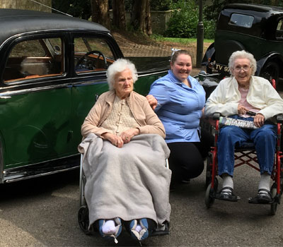 Hill Care residents at a Vintage Motor Show