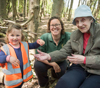 Forest Nursery Students with Dementia Sufferer