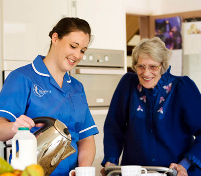 Tonbridge Care Home Resident & Nurse