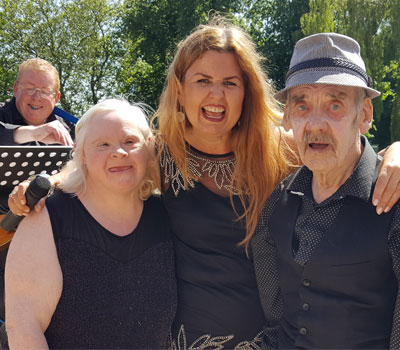 Singers at care home's mini-festival inspired by Glastonbury