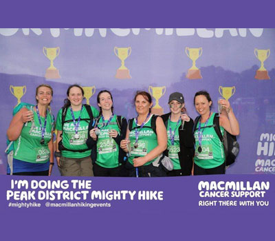 Hill Care Group staff at Macmillan Cancer Walk