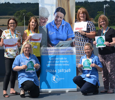 Bluebird Care staff with their awards