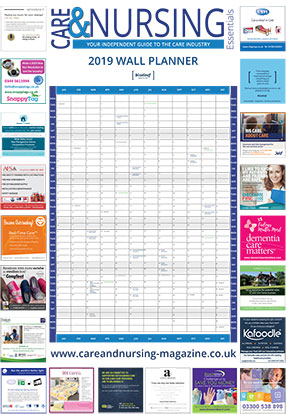 Care and Nursing Wallplanner 2019
