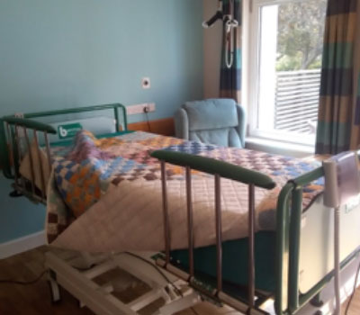 Care home bedroom set up for end of life care