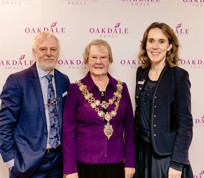 Mayor of Poole and care home staff opening Oakdale care home
