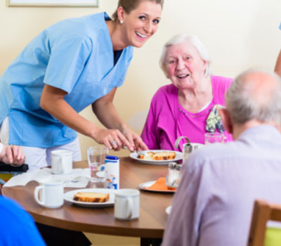 Mealtime in a care home - a chance to boost nutrition
