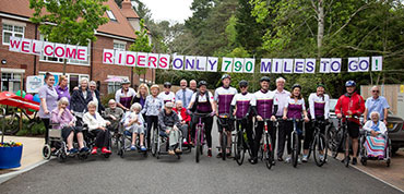Riders at Care UK's national fundraiser