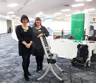 YAS staff with the Raizer emergency lifting chairs