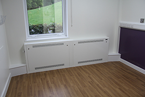Pendock's LST radiator guards protect against risk of burns in care homes