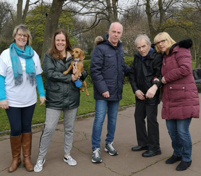 Residents on sponsored walk for dementia friendly sensory garden